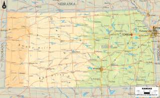 Kansas Physical Map