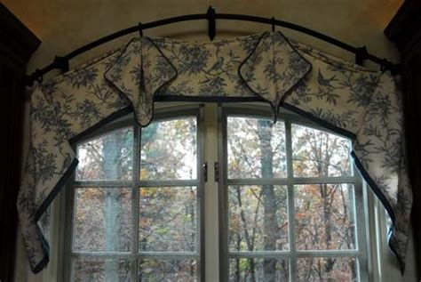 arched curtain rod arch window cover