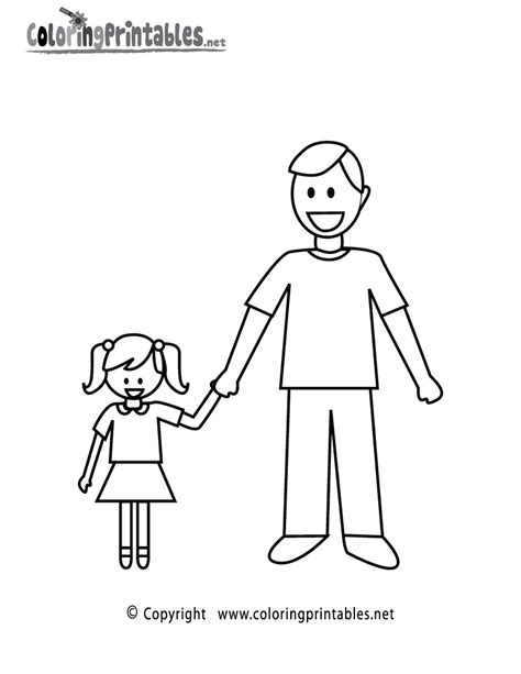 Free Dad Face Coloring Pages