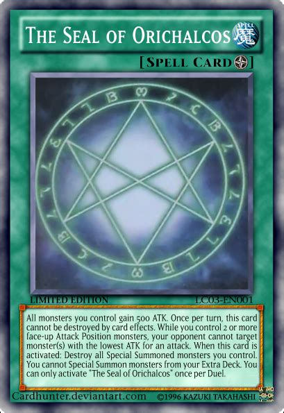 Yugioh Seal Of Orichalcos Deck List by The Seal Of Orichalcos By Cardhunter On Deviantart