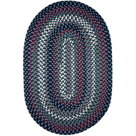 Blue Oval Rug by Rhody Rug Country Medley Navy Blue Multi 7 Ft X 9 Ft