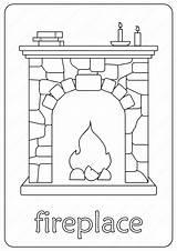 Coloring Fireplace Printable Coloringoo Drawing Fire Lettering Elsa Cartoon Outline Tweet Whatsapp Printables sketch template