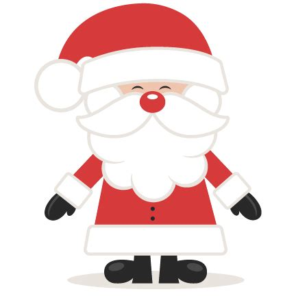 cute santa svg scrapbook cut file cute clipart files