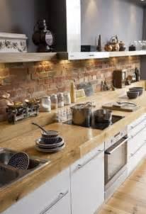 brick backsplashes for kitchens brick backsplashes rustic and of charm