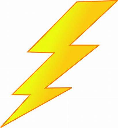 Lightning Bolt Vector Clipart Yellow Energy Shock