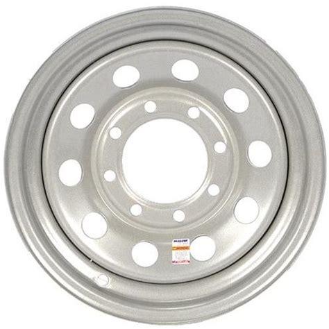 lug silver mod solid steel trailer wheel    single tk trailer parts