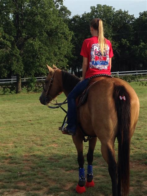 foto de Red white and blue #'merica Horses Barrel racing