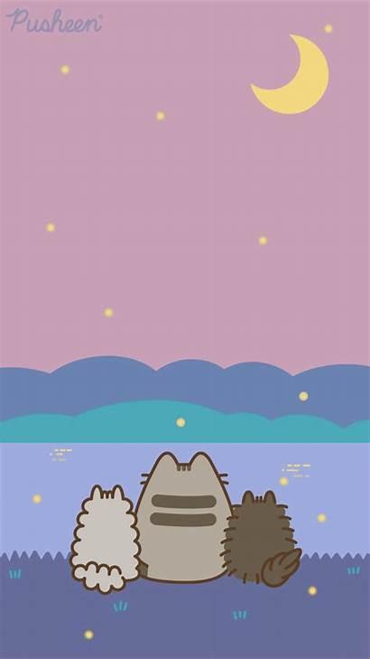 Pusheen Iphone Cat Summer Kawaii Aesthetic Wallpapers