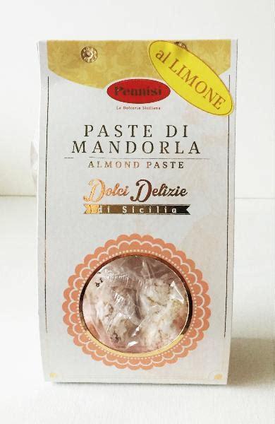biscuits de sicile 224 la p 226 te d amande et au citron 250gr gusto d italia
