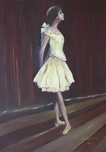 Little Degas Dancer Painting by Brigitte Roshay