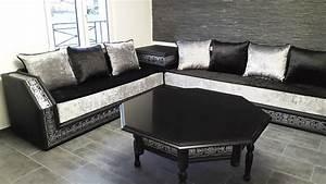 salon marocain blanc laqu lime salon complet laqu blanc With tapis couloir avec canapé capitonné strass