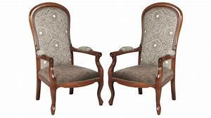 Fauteuil Style Voltaire : fauteuil voltaire tissu velours marron clair fauteuil de salon pas cher ~ Teatrodelosmanantiales.com Idées de Décoration