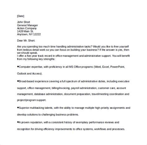 Cover Letter For Executive Assistant by Sle Executive Assistant Cover Letter 9 Free