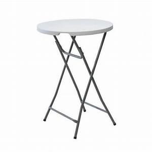 Table Haute Pliable : geante table bar pliante haute ronde 80cm portable pliable ~ Teatrodelosmanantiales.com Idées de Décoration