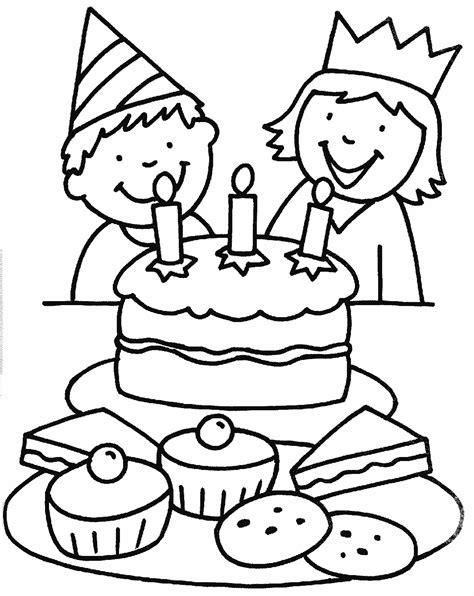 Verjaardag Kleurplaat by Kleurplaten Verjaardag