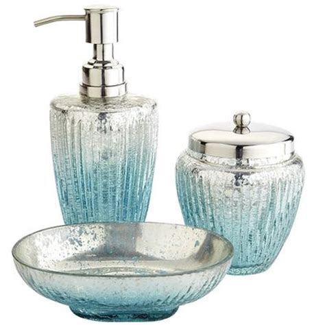 juliette glass bath accessories everything turquoise