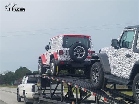 european jeep wrangler spied again european spec jeep wrangler jl on the move