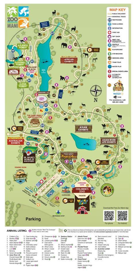 miami zoo map florida metro zoos south park maps peace tips atlanta aquarium navigating aka break spring project beach san