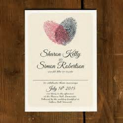 wedding invitations with pictures fingerprint wedding invitation and save the date by feel wedding invitations