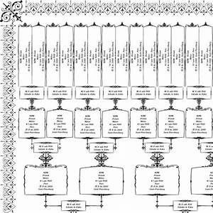 Printable family tree chart template 6 generations filled ...
