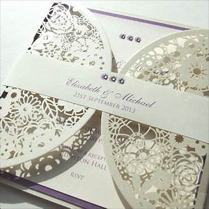 laser cut wedding invitation with paper belly band With wedding invitation paper bands