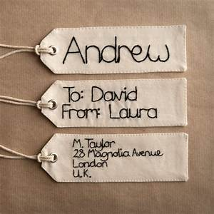 squibblybups hand embroidered name tag gift tag luggage With embroidered labels for crafts