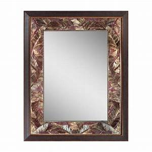 Head west tropical leaf mirror 27 by 35 inch home decor for Tropical bathroom mirrors