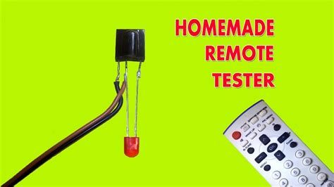 How Make Simple Remote Control Tester Youtube