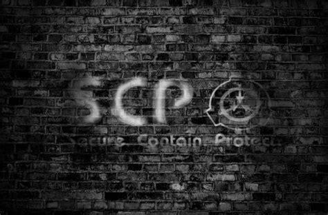 scp foundation brick wall logo  mynameisnotdavid