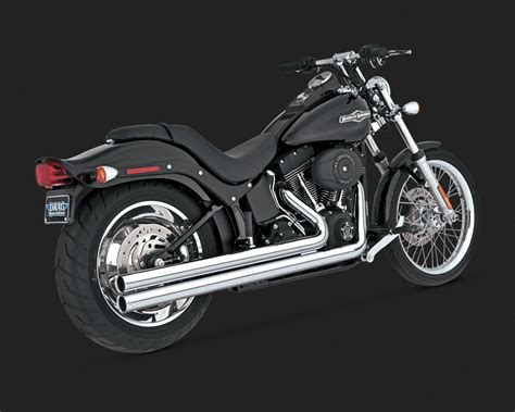 Vance & Hines Big Shots Long Exhaust System For Harley