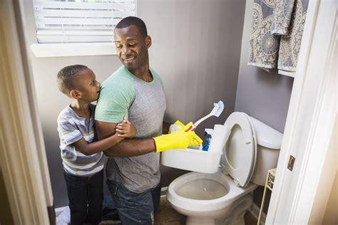 toilet bowl dirty clean unpleasant cleaning task vinegar brush cleaners