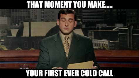 Cold Calling Meme - cold calling first cold call sales meme gif video phone funny youtube