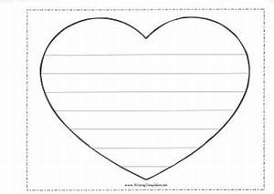 writing resources for kids With heart shaped writing template