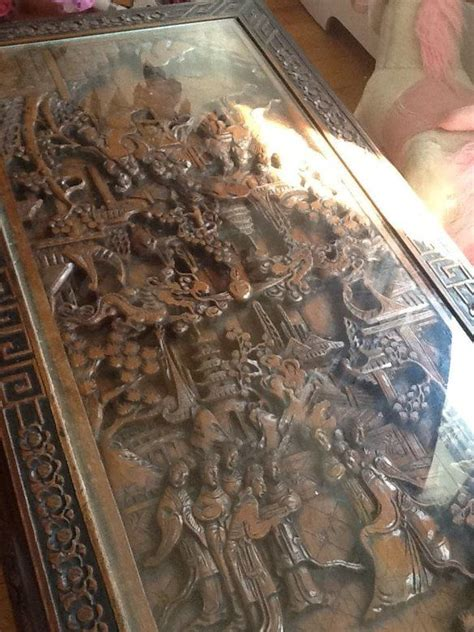 chinese hand carved coffee table parks posts  ny usa