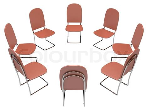 chairs in a circle stock photo colourbox