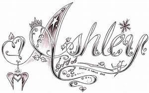 Ashley tattoo design by Denise A. Wells | Flickr - Photo ...