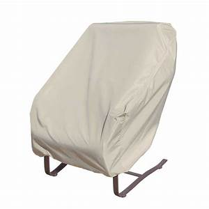Treasure garden wicker deep seating rocking chair cover for Rattan garden furniture seat covers