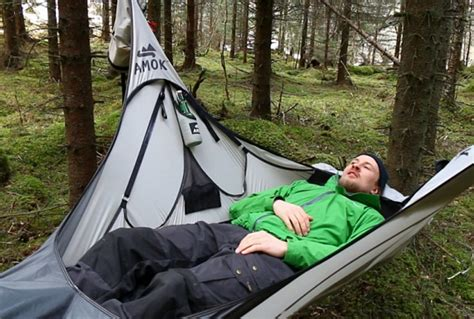 Diy Backpacking Hammock by Amok Draumr Hammock Gives Cers A Flat Stable Bed Like Cot