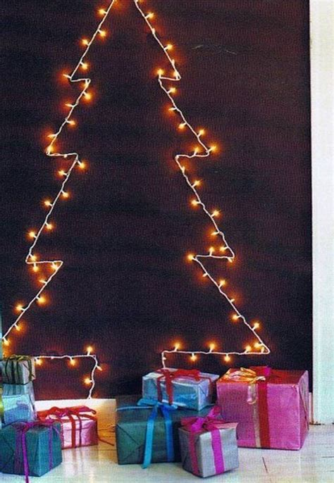 wall christmas tree light diy crafts pinterest