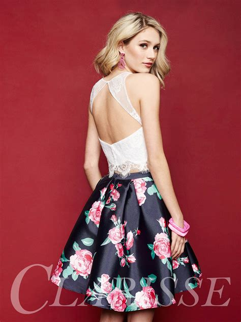 Fun, Floral, Two Piece Dress with Floral Skirt. Clarisse ...