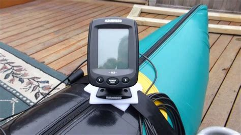 Jon Boat Depth Finder Mounts by Humminbird Fish Finder And Anchor Setup On My Pontoon Boat