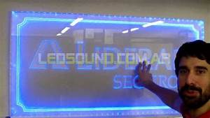 ProyectosLed #29: Cartel acrilico con iluminacion led YouTube