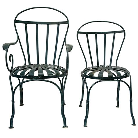 4 iron garden chairs at 1stdibs