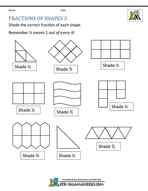fractions worksheets year 3 mixed fractions worksheet