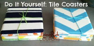 do it yourself coasters tile coastersliving rich with coupons 174