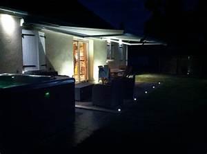 Eclairage Moderne : eclairage terrasse ext rieure avec spots led lc electricit ~ Farleysfitness.com Idées de Décoration