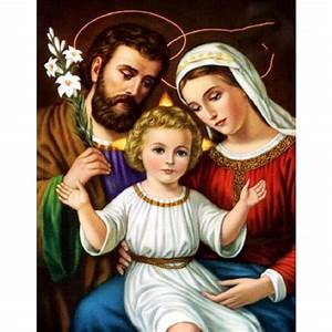 5D Holy Family Picture hand pasted FULL DIY diamond