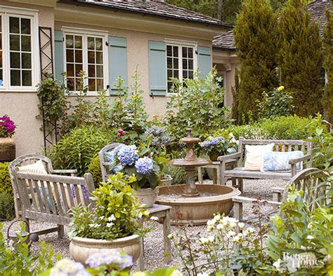 Patio And Backyard Designs by Gravel Patios Better Homes Gardens