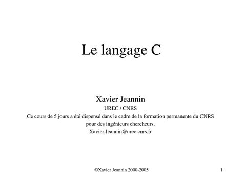 calam 233 o cours lagage c licence g 233 nie logiciel