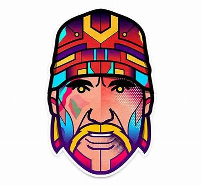 Orton Van Hulk Hogan Pop Icons Illustrations
